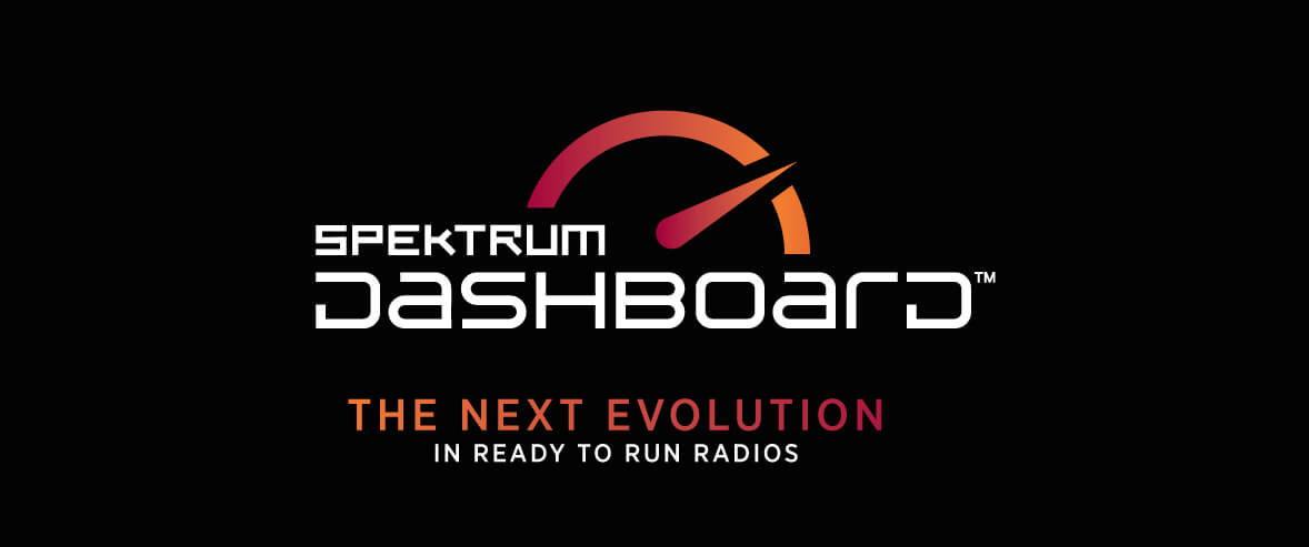 Spektrum Dashboard Logo. The next evolution in Ready-to-Run radios.