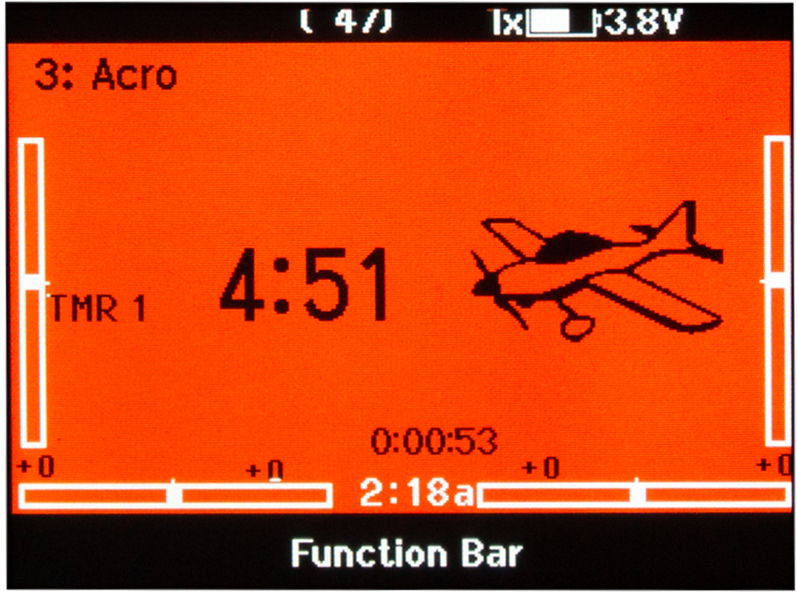 NX6 screen backlit in orange