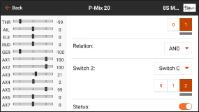 AirWare™ Touch app P-Mix 20