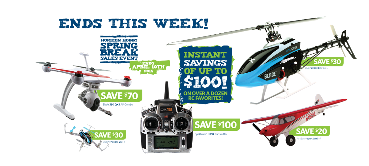Horizon Hobby Spring Break Sales Event