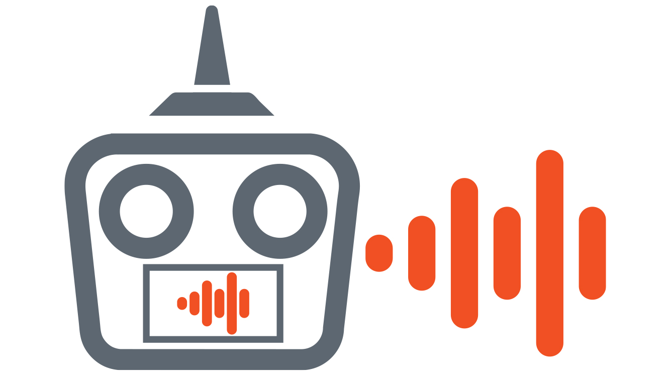 A vector drawing representing voice alerts.